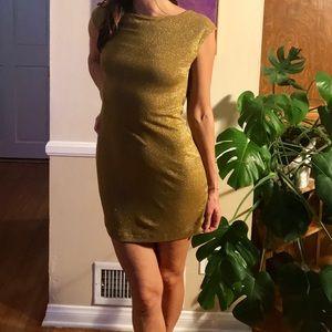 BCBG (NWT) Gold Party Dress